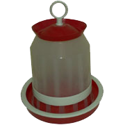 Feeders and drinkers for chickens